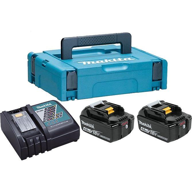 Аккумуляторные батареи + зарядное устройство Makita 198310-8 (DC18RC + 2хBL1840B)